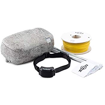 Underground pet fence products: collar, wire & case.